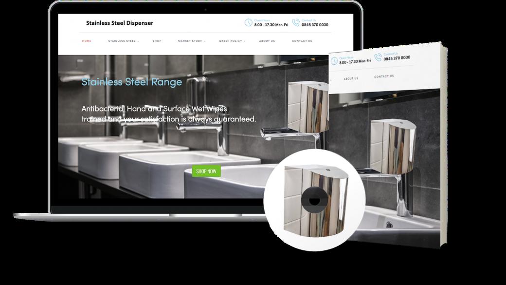 stainless steel wipes dispenser hygiene